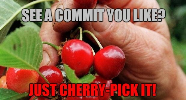 how to git cherry-pick a commit.