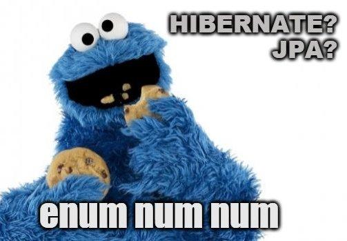 Hibernate and JPA enum mapping meme - enum num num.