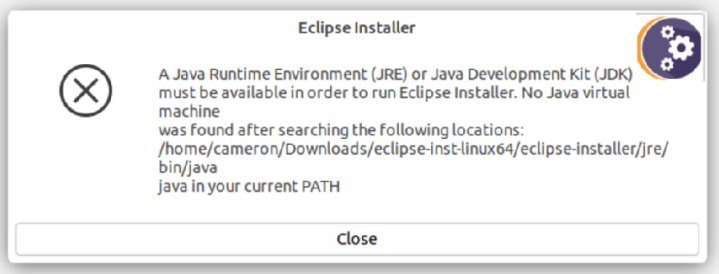 No Java virtual machine found error