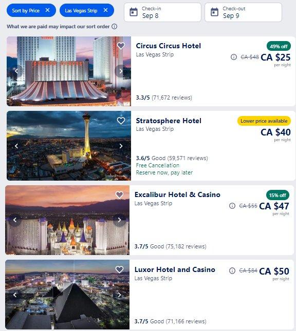 JavaOne Hotels