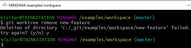 git worktree example