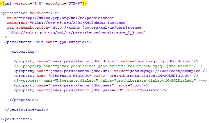 MySQL persistence.xml example