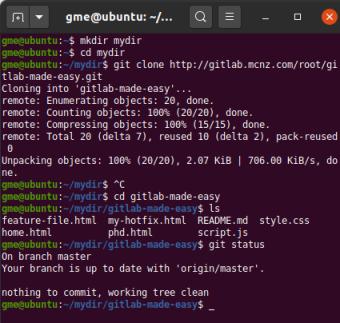 GitLab Git clone command