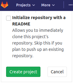 gitlab project create readme