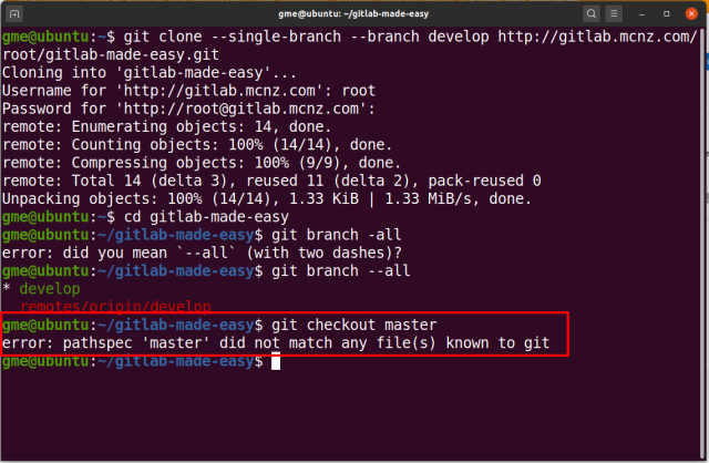 git shallow clone branch