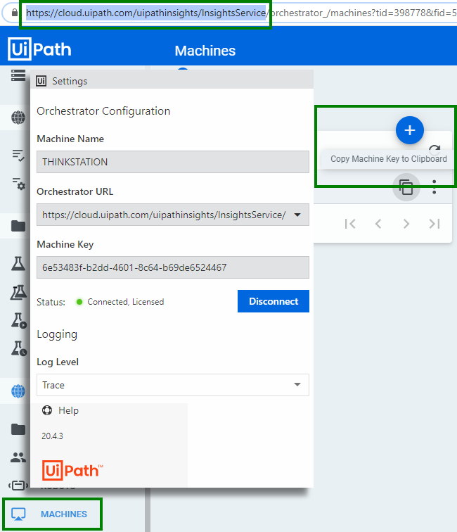 UiPath Assistant configuration