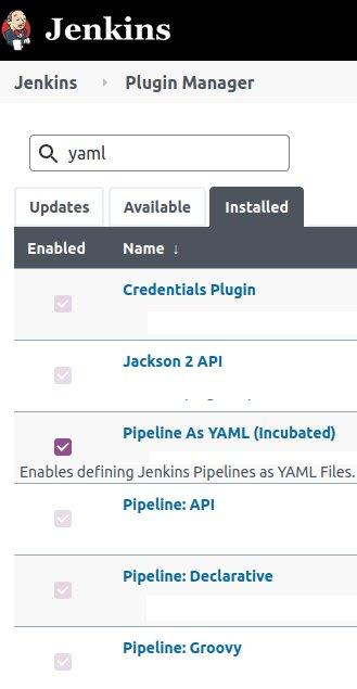Jenkins YAML pipeline