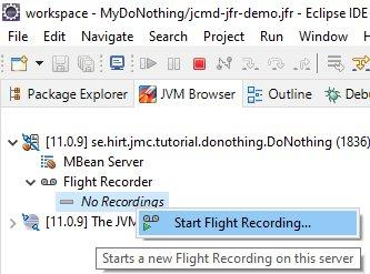 Start Flight Recorder Eclipse