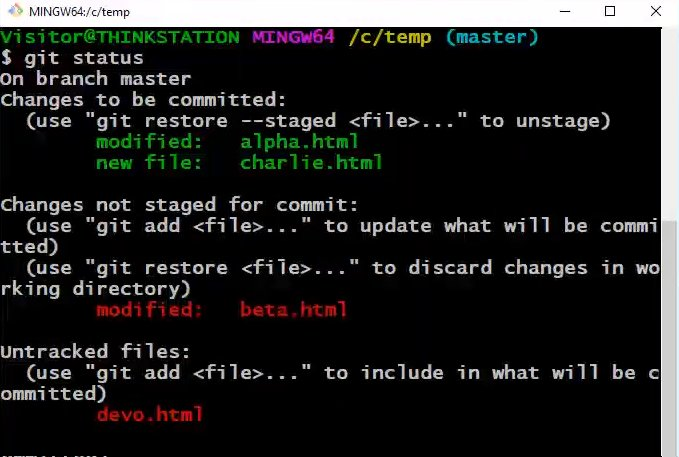 discard local git changes