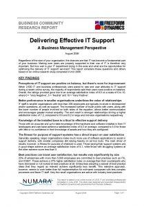 Delivering Effective IT Support paper