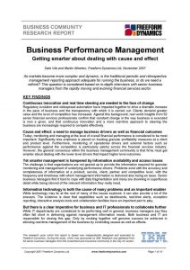 BPM report front page