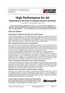 High Performance for All front page