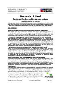 Moments of Need front page