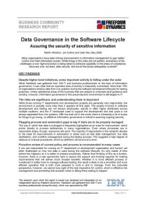 Data Governance in the Software Lifecycle - front page