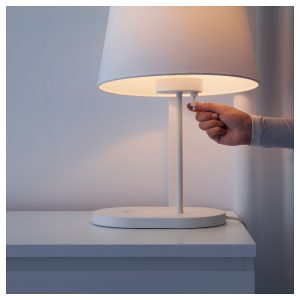 Bedside lamp wireless charger